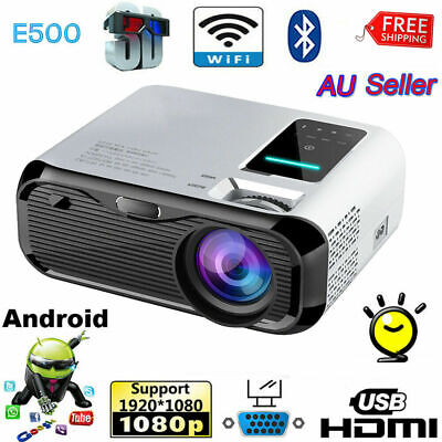 AU189.99 • Buy WiFi Android 7000 Lumens Projector LED 3D HD 1080P Home Cinema Theater HDMI USB