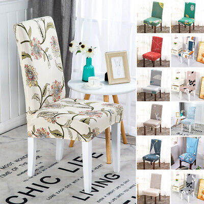 AU16.35 • Buy 1/4/6PCS  Removable Chair Covers Stretch Slipcovers Seat Cover Dining Home Decor
