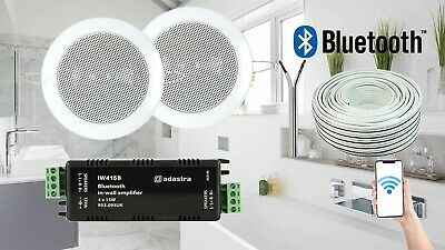 £71.49 • Buy Bathroom Kitchen Ceiling Speakers And Wireless Bluetooth Amplifier System Kit