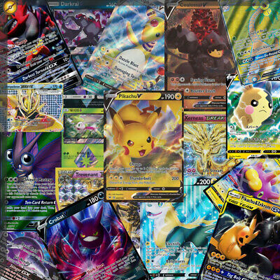 AU24.95 • Buy 100 Pokemon Cards - Premium Pack - All Have 2x GX|V|EX|Break Plus 16xHolos/Rares