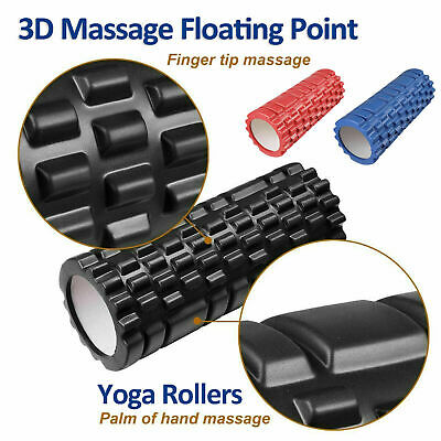 AU16.99 • Buy Pilates Foam Roller Long Physio Yoga Fitness GYM Exercise Training 3D Point 33CM