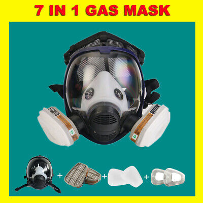 AU25.66 • Buy Gas Mask 7 In 1 Full Face Chemical Spray Painting Respirator Vapour 6800 UPGRAD
