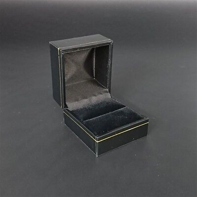 AU14.64 • Buy Black Leatherette & Velvet Jewellery Ring Gift Ring Box Wedding Engagement Rings
