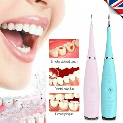 Electric Sonic Teeth Stains Cleaner Dental Scaler Tartar Calculus Plaque Remover • 9.99£