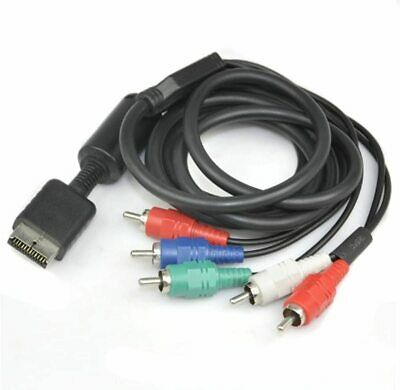 HD Component AV Cable For Sony Playstation PS2 PS3 | FAST&FREE UK Post | (Black) • 9.64£