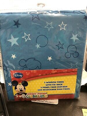 Mickey Mouse Clubhouse 1 Curtain Window Panel W/ Tie Back 41W X 63L Multiples • 11.57£
