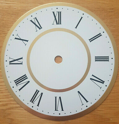 £11.95 • Buy NEW - 6 Inch Clock Dial Face - White & Gold Finish 152mm Roman Numerals - DL18
