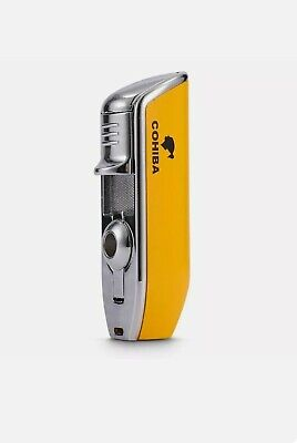 BNIB Cohiba Style Lighter Windproof Metal 3 Jet Cigar Punch Child Lock  • 15.99£