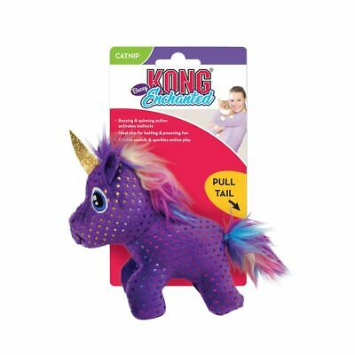 AU16.38 • Buy KONG Enchanted Buzzy Unicorn Plush Squeaker Cat Toy