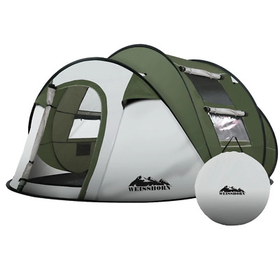 AU100.85 • Buy Weisshorn Instant Up Camping Tent 4-5 Person Pop Up Tents Family Hiking Beach Do