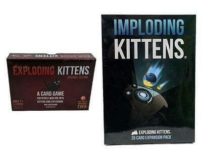 AU49.99 • Buy Exploding Kittens Original Party Adult Card Game & Imploding Kittens Expansion 4