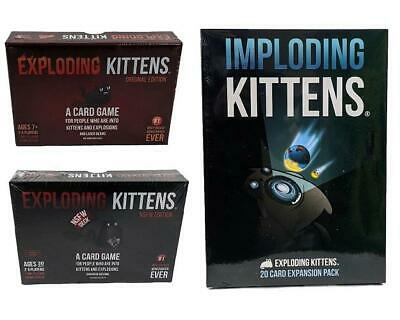 AU64.99 • Buy Exploding Kittens Original Party Adult Card Game & Imploding Kittens Expansion 4