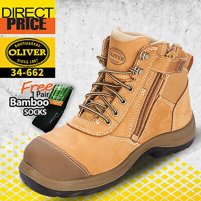 AU139.95 • Buy Oliver Work Boots 34662. Zip Side Steel Toe Safety. Nubuck Ankle Boot. Wheat NEW