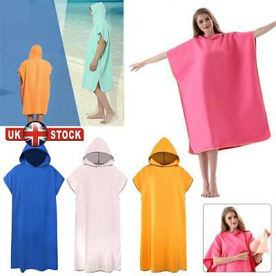 Unisex Adult Towelling Beach Changing Robe Towel Dry Poncho Bathrobe Cover Up UK • 14.69£