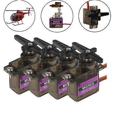 AU25.85 • Buy 4x MG90S 9G Metal Gear Micro Servo Motor For RC Airplane Car Boat Helicopter AUS