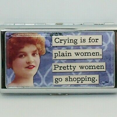 King Size Cigarette Case Metal Card Storage Case Crying Is For Plain Women..... • 11.11£
