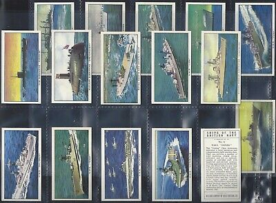Kelloggs-full Set- Ships Of The British Navy (16 Cards) - Exc • 8.99£