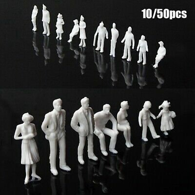 Miniature White Figures Architectural Model Human Scale Model Plastic Peoples • 2.78£