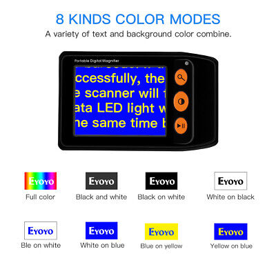 Electronic LCD Digital Display Magnifier Handheld Foldable Reading 3.5  Screen • 54.39£