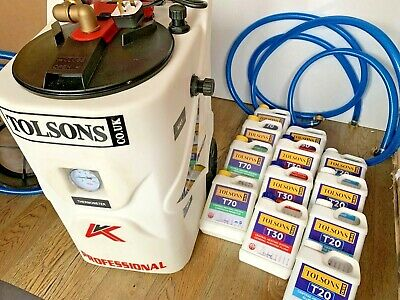 New TOLSONS Smart 42T Central Heating Power Flush Machine + 12x Boiler Additives • 789£