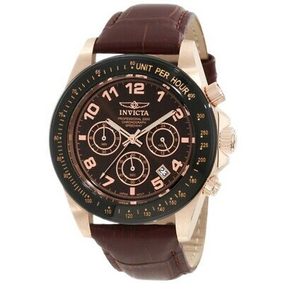$ CDN87.69 • Buy Invicta 10712 Men's Speedway Rose Gold Tone Brown Dial Chronograph Watch