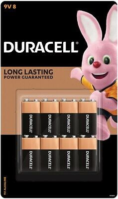AU29.95 • Buy Duracell 9V Volt Alkaline Battery Long Lasting Power Guaranteed Energizer 8 Pack