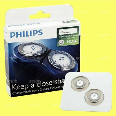 Philips HQ56 Replacement Shaver Heads (2 Pcs) For PQ202 PQ206 HQ6996 AT600 AT610 • 24£