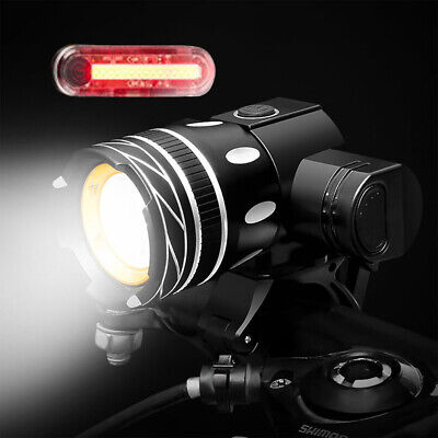 T6 LED Rechargeable  Front Light Head Rear Lamp Set BYCICLE Zoomable Highlight