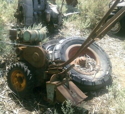 AU1200 • Buy 1950s FARMER'S BOY LITTLE TRACTOR ROTARY HOE + SLASHER & SCARIFIER HOWARD TILLER