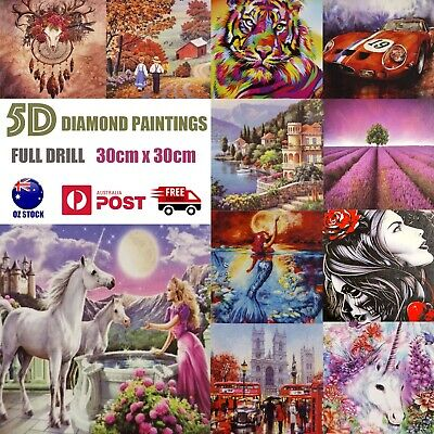 AU8.46 • Buy 5D Diamond Painting Crystal Embroidery Cross Stitch Pictures DIY Kit Arts Craft