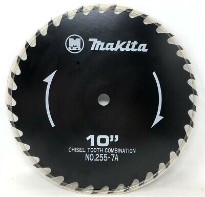 """£19.74 • Buy Makita Saw Blade 10"""" Chisel Tooth Combination No. 255-7A For 5/8  Great Cond!"""