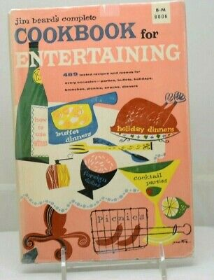 £21.53 • Buy Vintage Jim Beard's Complete Cookbook For Entertaining 1954 1950's Housewife