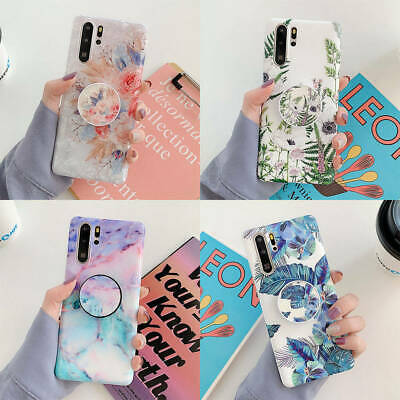 $ CDN6.60 • Buy For Samsung Galaxy Note 8 9 S9 S10 Plus Flower Marble Stand Holder Soft TPU Case