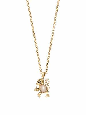 $ CDN129.97 • Buy KATE SPADE New York FAUX PEARL12k Pendant Necklace ZODIAC Spirit Animals MONKEY