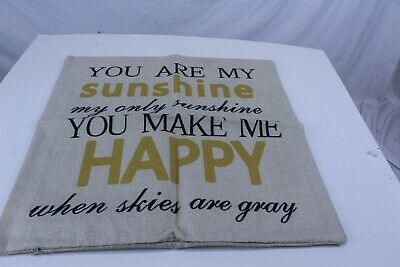 Throw Pillow Cover You Are My Sunshine Cotton Linen 17  X 17  • 7.41£