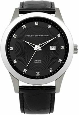 French Connection Mens Watch With Black Dial And Black Leather Strap FC1135B • 49.99£