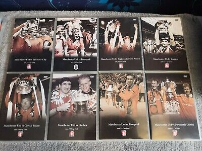 Manchester United FA Cup Final DVD Bundle X8 • 25£