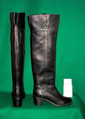 New SEE BY CHLOE Uk 6.5 /39.5 Long Black ARELLA Leather Over-Knee Tall BOOT £890 • 235£