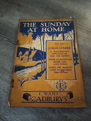 The Sunday At Home May 1935 Jubilee Number Inc Vintage Cadburys Advert • 9.99£