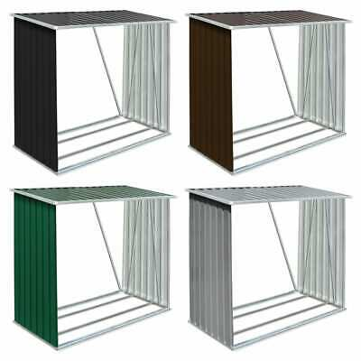 VidaXL Garden Log Storage Shed Galvanised Steel 163cm Cabin Multi Colours • 92.99£