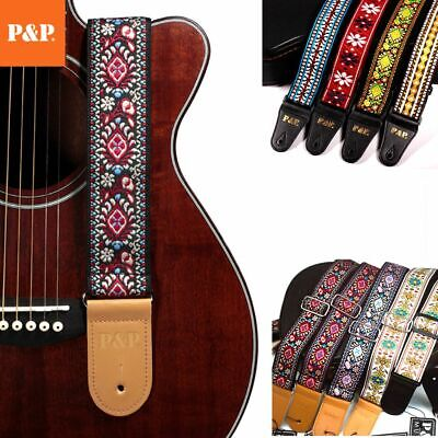 $ CDN15.14 • Buy Guitar Strap Embroidered Adjustable Vintage Woven Bass Electric Acoustic Guitars