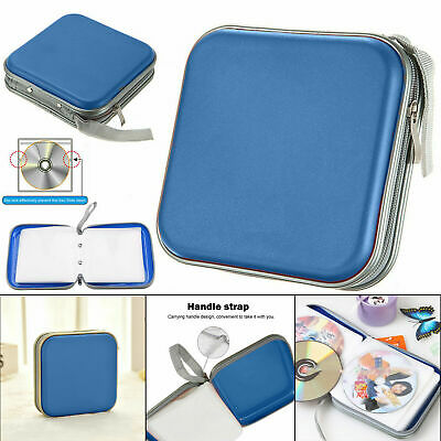 CD DVD Carry Case Disc Storage Holder CD Sleeve Wallet Ideal For In Car BLUE • 3.95£