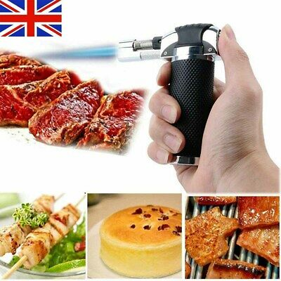 Refillable Butane Gas Micro Blow Torch Lighter Cooking &Baking Kitchen Craft NEW • 8.39£