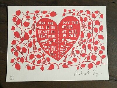 Rob Ryan Limited Edition Print & Book -  This Is For You   2007 • 99£