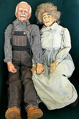 $ CDN130.65 • Buy Vintage William Wallace Specialty Molds Grandma And Grandpa Porcelain Doll Pair