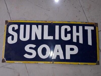 $ CDN375.35 • Buy Sunlight Laundry Soap Porcelain Sign SIZE 36  X 10.5  INCHES Pre-Owned