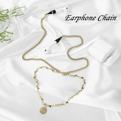 $ CDN9.79 • Buy Wireless Earphone Necklace Holder Metal Anti-lost Chain Rope For AirPods Strap