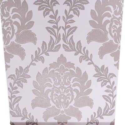 Taupe Brown Grey Mix Cream Damask Glitter Textured Vinyl Feature Wallpaper Heavy • 7.95£