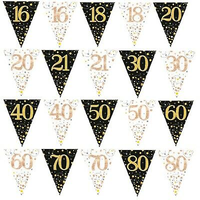 £2.97 • Buy TRIANGLE FLAG BUNTING Fizz Happy Birthday Garden Party BUNTING Home Decoration