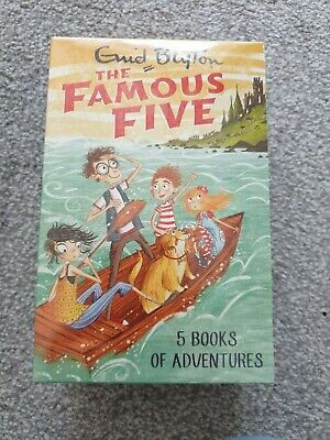 Enid Blyton The Famous Five 5 Books Of Adventures Box Set Brand New Sealed • 15.99£
